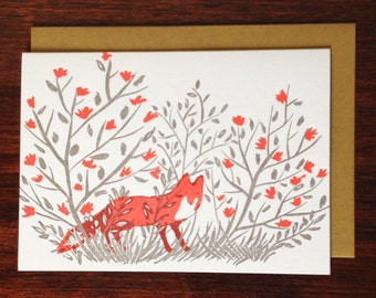 Fox in the Roses Card (box of 10)