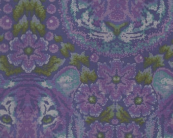 Eden Crouching Tiger Amethyst - Tula Pink - Cotton Woven fabric by the yard