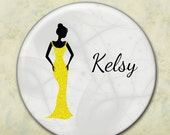 Bridesmaid Gift, Pocket Mirror, Personalized, Any Color