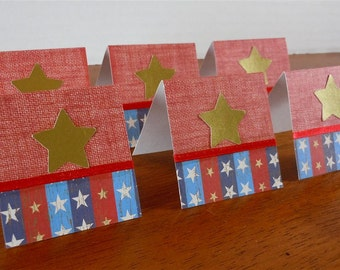 Gold Stars and Stripes Mini Cards 2x2 (6)