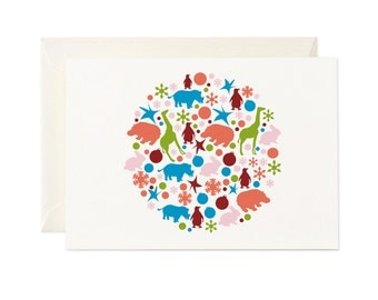 Animals like to Party gift card - Any occasion greeting card