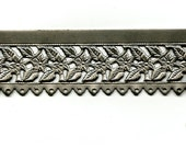 """Floral/Leaves Edging with Holes Steel Banding 12"""""""