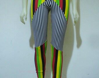 LAST PAIR Rasta / Stripe Leggings
