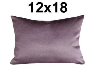 Purple Lumbar Pillows, 12x18,  Medium Purple Pillow, Solid Purple, Modern Chic, Contemporary Cushion Cover, Luxury  Accent Pillow