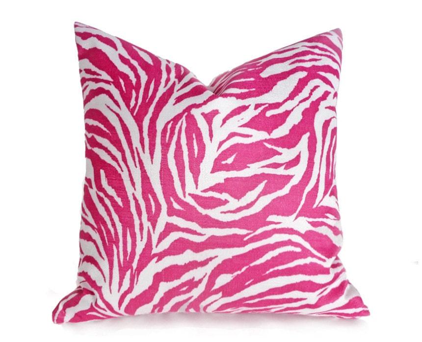 Zebra Pillow Covers Pink Throw Pillows Zebra Print Pillow