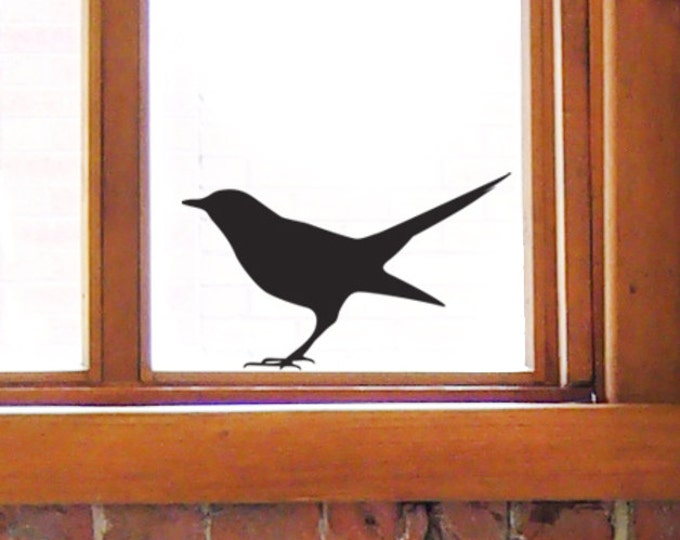 Bird Window Stickers, Blackbird Wall Decals for Bird Lovers