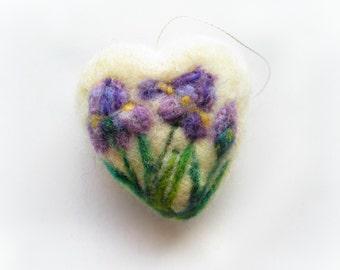 Needle Felted Heart Decoration