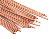 Copper Tube Beads - 10 Raw Copper Tubes (2x100mm) D367