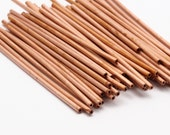 Copper Tube Beads - 30 Raw Copper Tube Beads (2x65mm)    D366