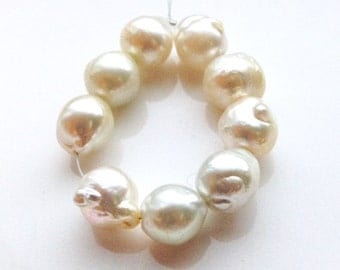 Baroque Cream South Sea Pearls - Mini Strand - (9) Pearls