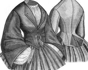 Truly Victorian 1861 Revere Ladies Bodies Pattern TV449