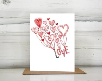 Love is in the Air Valentines Love Anniversary Engagement card