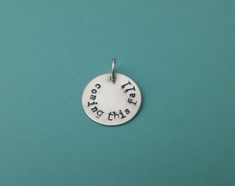 """YES I am having a baby! No more questions asked...the charm says it all! Sterling Silver 7/8"""" charm"""