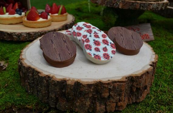 Designer LADYBUGS Chocolate Covered Oreos -1 Dozen Birthday Party Favor Girl Boy Insect Bug Picnic Garden