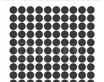Set of 100 self adhesive Chalkboard circle dots Decals for labeling drinks, cans, gifts and more