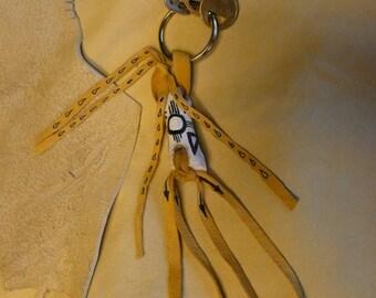 Deer Knuckle Bone and Deer Leather Key Ring