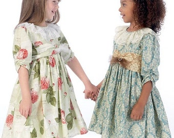 GIRLS DRESS PATTERN / Pretty Dresses - Petticoat / Sizes 2 to 5 Or 6 to 8