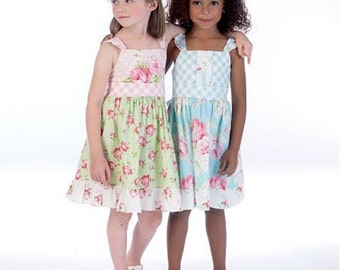 GIRLS DRESS PATTERN / Pretty Dresses - Sundress / Sizes 2 to 5 Or 6 to 8