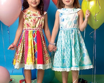 GIRLS DRESS PATTERN / Pretty Sundress - Dress / Sizes 2 to 5 Or 6 to 8