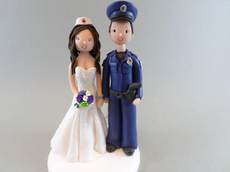 Police Officer Amp Nurse Custom Wedding Cake Topper