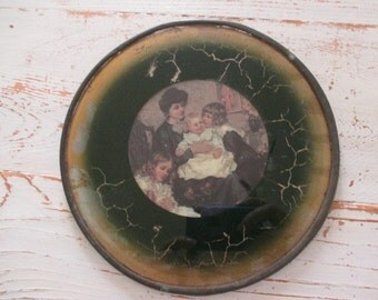 ANTiQuE ViCToRiaN LeaDeD GLaSS PiCTuRe