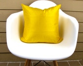 "Yellow Dupioni Silk Pillow Cover -  12"" x 20"", 12"" x 24"", 14"" x 20"", 18"", 20"", 22"",  Yellow Throw Pillow, Yellow Toss Pillow, Yellow Silk"