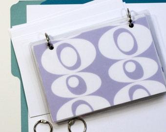 4 x 6 Index Card or Note Card Binder, Purple Blobs