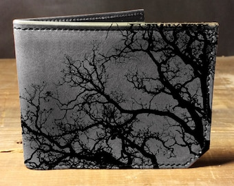 wallet - leather wallet - mens wallet - tree wallet
