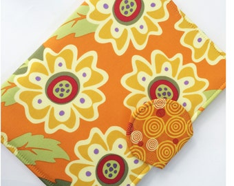 Kindle Cover, Nook Cover, Kobo Cover, all sizes, Retro Golden Sunflower eReader Case