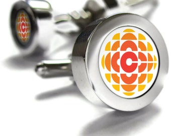 CBC Cufflinks - fathers day gift ideas, Canada themed gifts, retro gifts, broadcast, Canadian gifts, Canadian Cuff links, dad gift