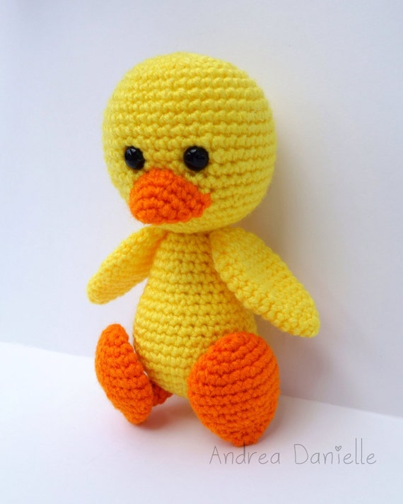 Amigurumi Duckling : Crochet Duck Toy Amigurumi: Yellow Orange by AndreaDanielle
