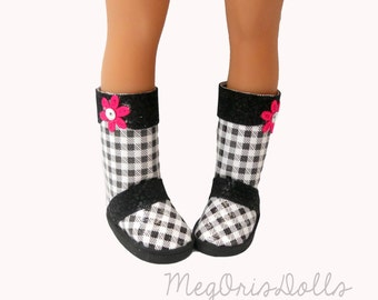 Black and White Boots, Rain Boots designed for Hearts 4 Hearts dolls