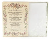 Personalized From The Bride to her Junior Bridesmaid Wedding Handkerchief - BH141