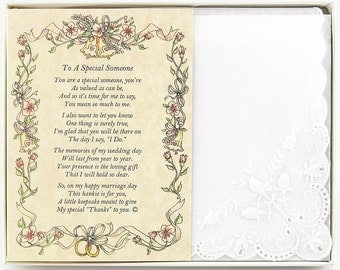 Personalized To A Special Someone Poetry Wedding Handkerchief - BH113