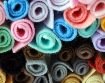 Pure Wool Felt Sampler Pack - Pastels or Naturals