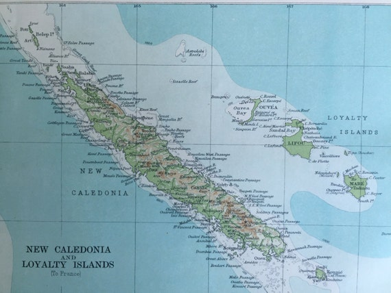 Antique Map Of The Fiji Islands