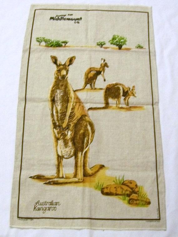 Middlemount Australia  city photos : ... Tea Towel, Kangaroo,Vintage Linens, Middlemount, Australian Kangaroo