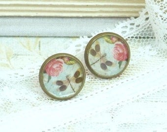 Dragonfly Studs Woodland Earrings Insect Earrings Dragonfly Earrings Nature Studs Dragonfly Jewelry