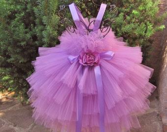 ORCHID RUFFLES. Tiered Tutu Dress.  Birthday Dress.  Flower Girl Dress,  Photo Shoots.  Princess Tutu Dress.  Purple Dress. Girl Tutu Dress.