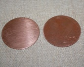 Copper Stamping, Flat Copper Circle , Metal Stamping, Enameling Supplies, Copper Supplies, 18 Gauge