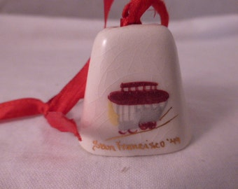 Vintage San Francisco California Ceramic Bell
