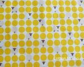 Japanese Fabric Kawaii Sheep Polka Dot Yellow 1/2 Yard