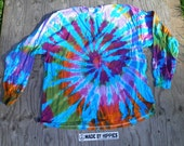 Born on the Fourth of July Spiral Tie Dye Longsleeve T-Shirt (Gildan Size 3XL) (One of a Kind)
