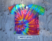 Summer Spiral Tie Dye T-Shirt (Gildan Youth Size XS) (One of a Kind)