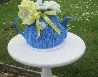 Hand Knitted Tea Cosie     Summer Garden Party