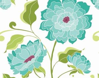 White Halle Rose Fabric - Riley Blake - Lila Tueller - C4180