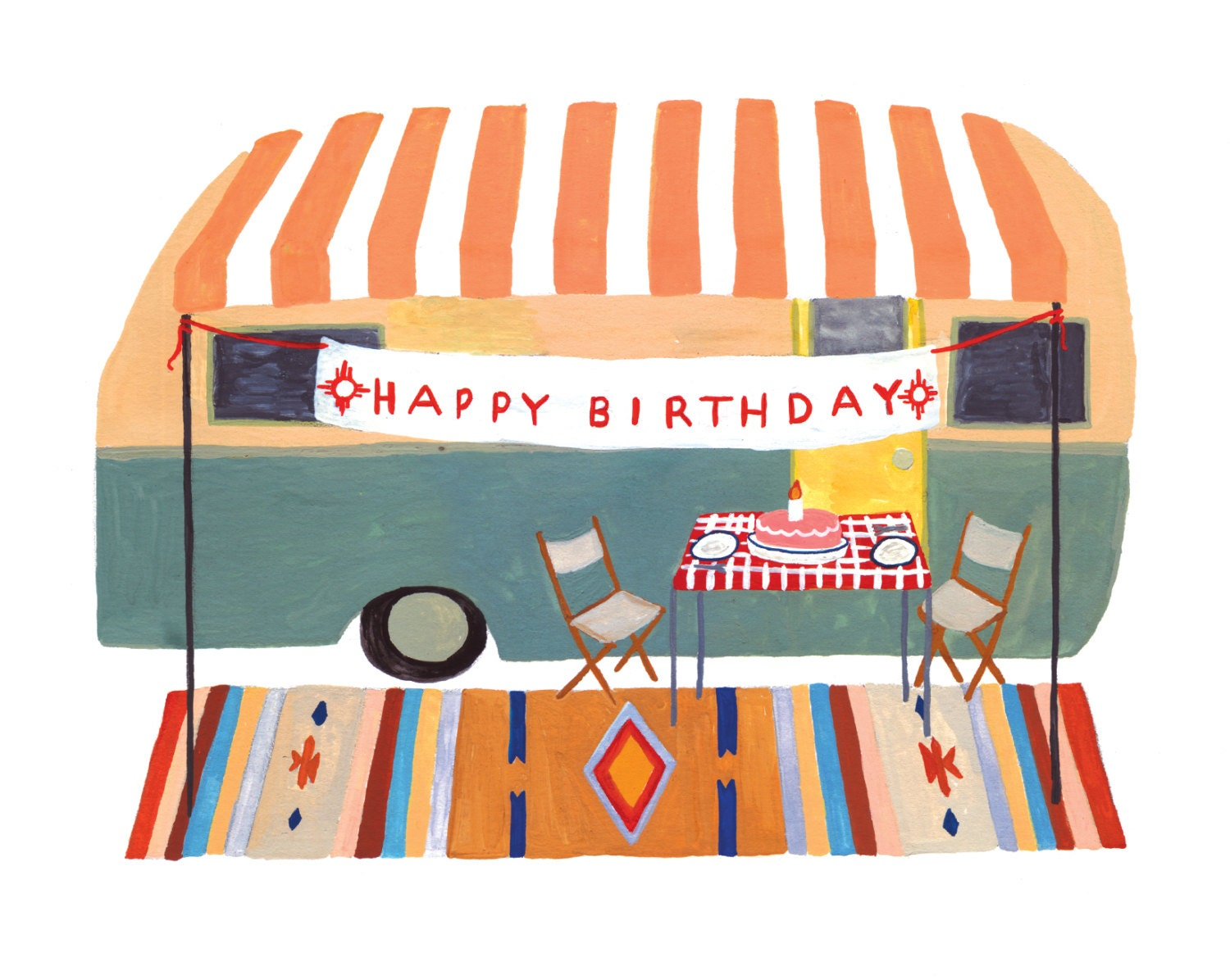 Camper trailer birthday card by smalladventure on etsy for Birthday gifts for travel lovers
