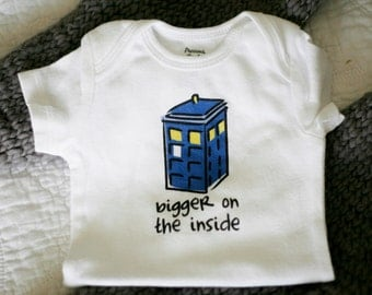 Bigger on the Inside Baby Bodysuit (sizes newborn to 24 months)