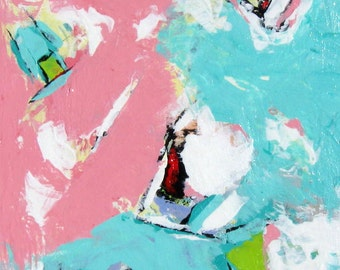 Pastel Abstract Original Acrylic Painting on canvas, Nursery Decor, Wall Art