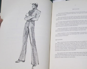 Singer Machine Sewing Book Fashion Prints Vintage Mod 70s Menswear Men's Knits Jacket Pants Shirt Sewing Patterns Craft Tutorial Instruction